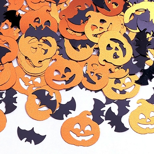 Bats And Pumpkin Confetti