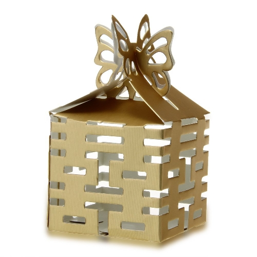 Candy Gift Boxes Gold Paper