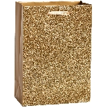 Solid Gold Glitter Gift Bag