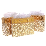 Gold Metallic Foil Party Gift Bags