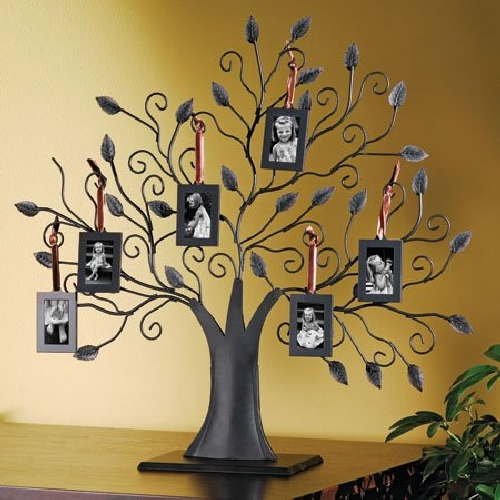 Hanging Photo Frames On Family Tree