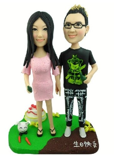 Fully Personalized Clay Figurines Based on Customers Photos