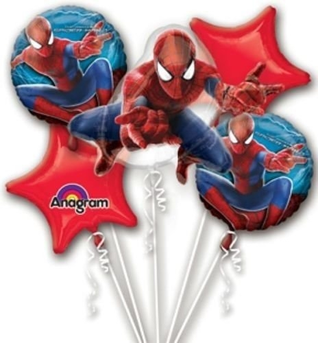 Amazing Spiderman Party Balloon Bouquet
